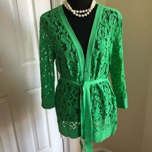 New York and company lace cardigan - L